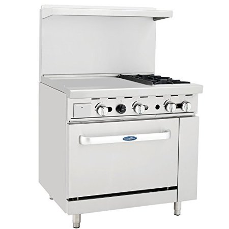 CookRite Liquid Propane Range 2 Burner Hotplates With 24