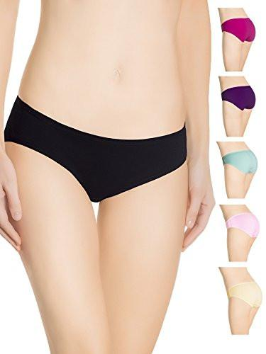 Nabtos Cotton Briefs Underwear For Women Sporty Hipster Panties (Pack of 6)- Large/7