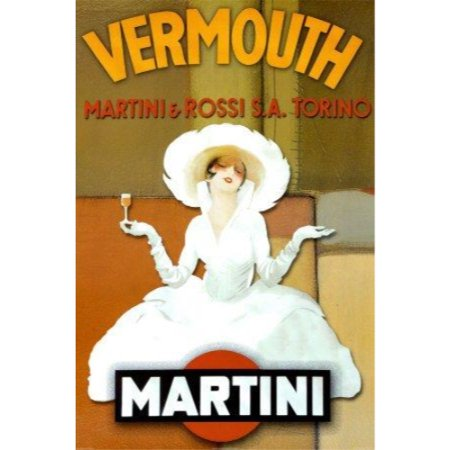 Contemporary Abstract Martini Rossi Vermouth 24x36 Art Print Poster Martini Drinking