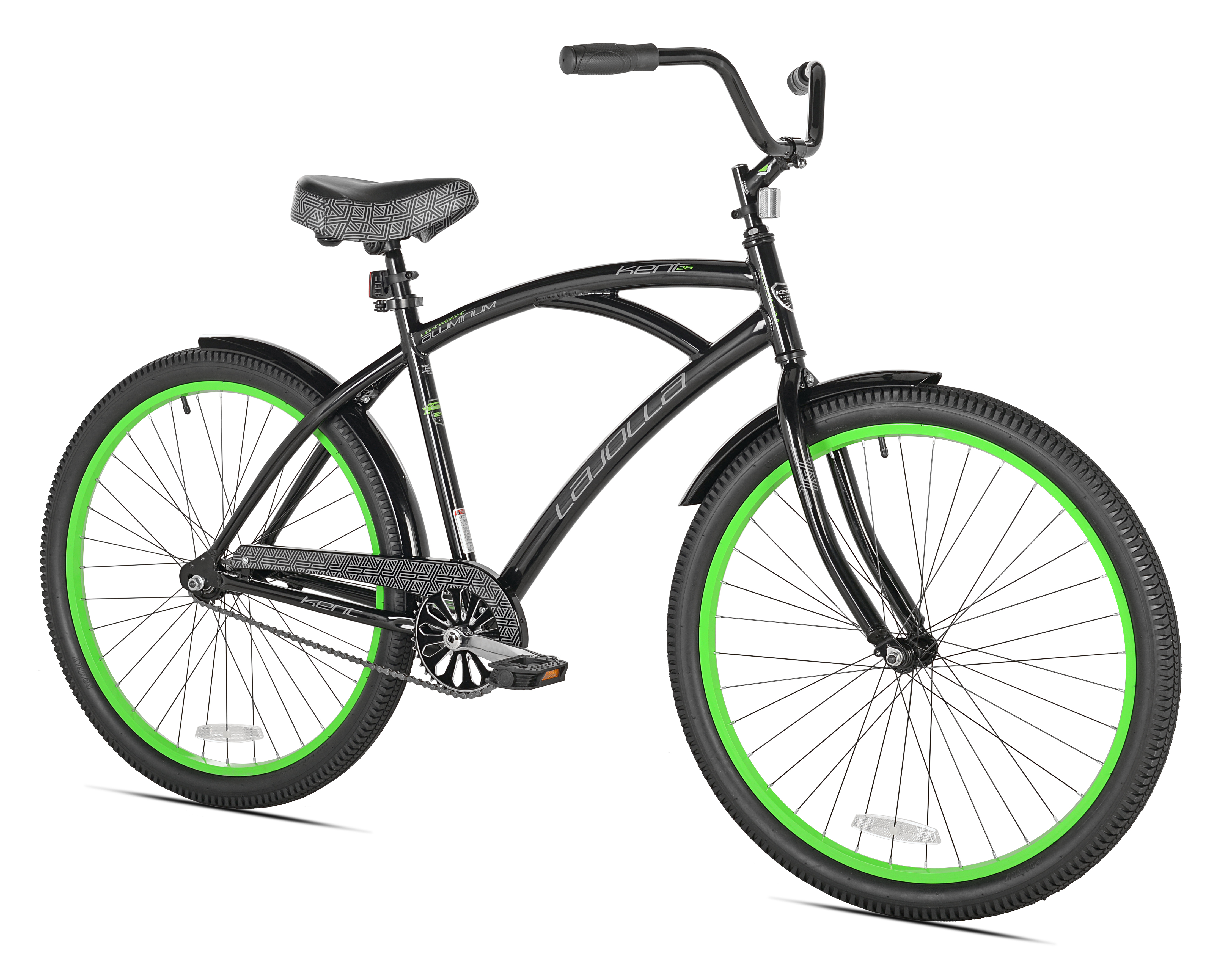 "26"" Kent La Jolla Men's Cruiser Bike, Black Green by Kent International Inc"