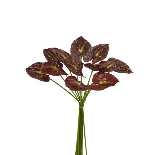 Charlton Home Faux Waxed Anthurium Stem