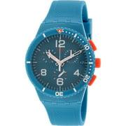 Swatch Men's Originals SUSN406 Aqua Silicone Swiss Quartz Fashion Watch