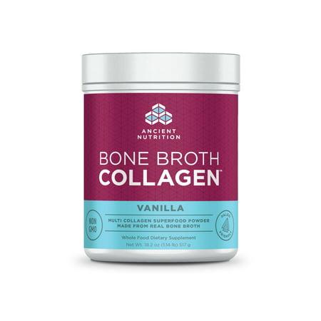 Ancient Nutrition, Bone Broth Collagen, Vanilla, 30