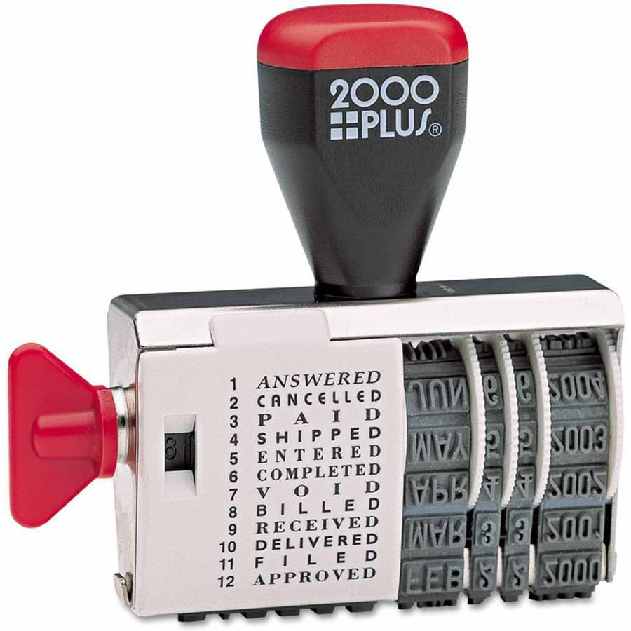 "2000 PLUS Dial-N-Stamp, 12 Phrases, 1-1/2"" x 1/8"
