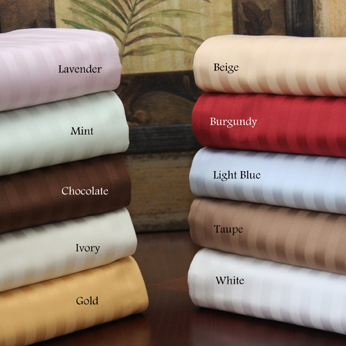 Simple Luxury 600 Thread Count Stripe Pillow-Sham Set
