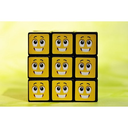 LAMINATED POSTER Smilies Feelings Funny Emotion Emoticon Cube Mood Poster Print 24 x (Emotion Cubes)
