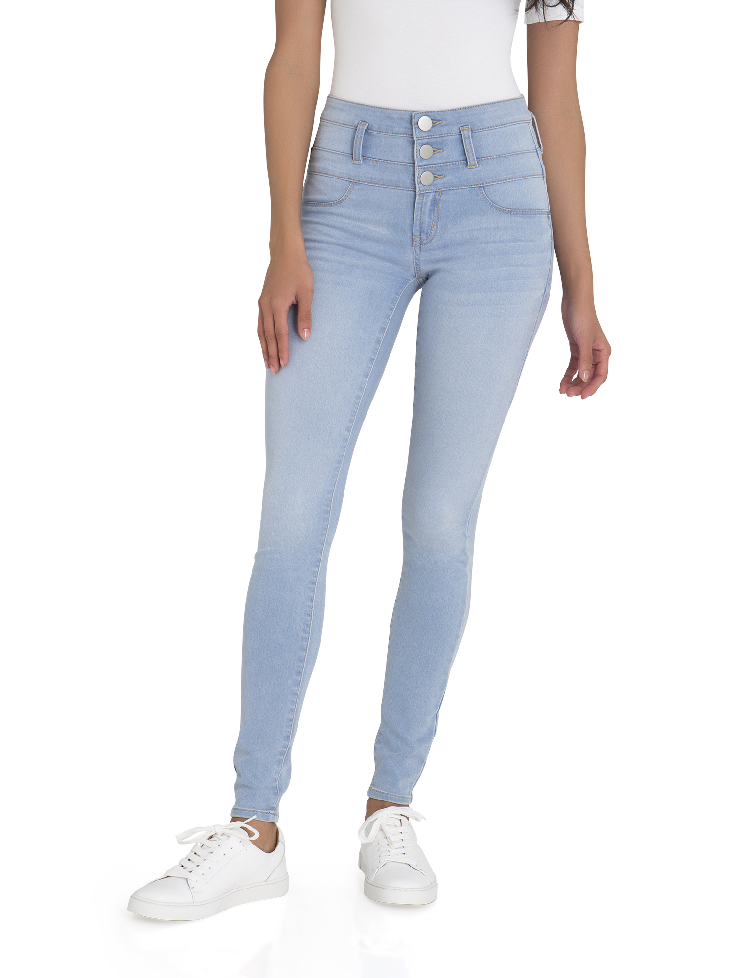 No Boundaries Junior's Super Soft Triple Stack Jeans