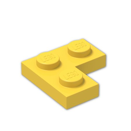 Brick Building Sets Original Lego Parts: Plate 2 x 2 Corner (2420 - Pack of 8) (Yellow)