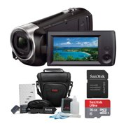 Sony HDR-CX440/B Full HD Video Handycam Camcorder with Sony 16GB SD Card Bundle