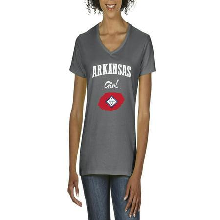 Arkansas Girl - Arkansas Girl Women V-Neck T-Shirt