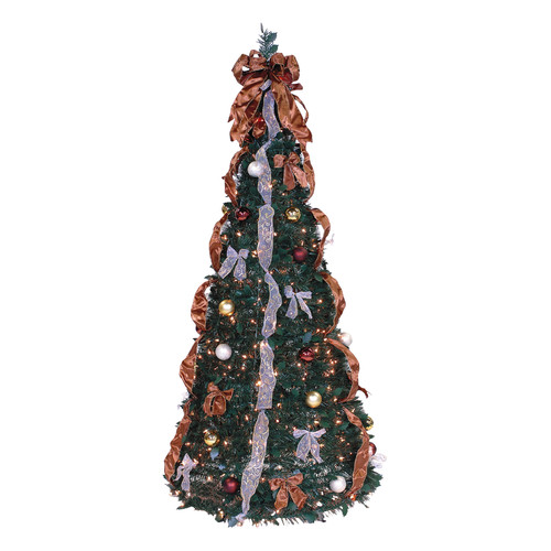 LB International Pop Up 6' Green Artificial Christmas Tree with 350 Lights