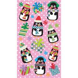 Bulk Buy  Sticko Stickers  6 Pack  Christmas Stickers Polka Dot Penguins E5201242