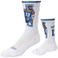 Paul George LA Clippers Strideline Premium Comfy Crew Socks - White