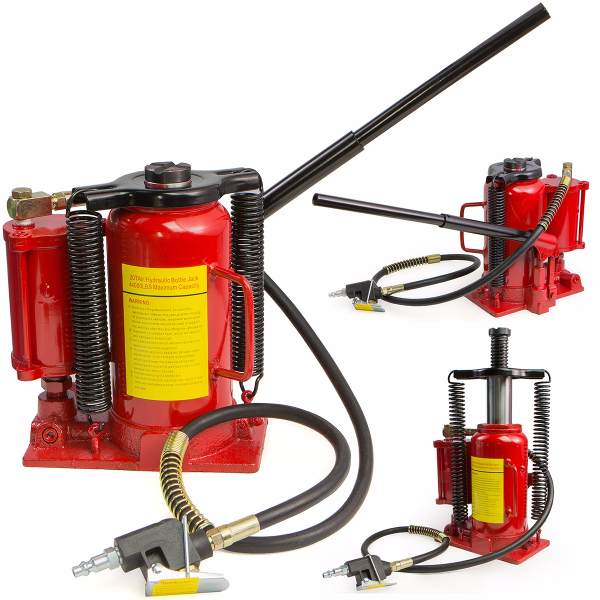 20TON 40000LB Automotive Heavy Duty Air Hydraulic Bottle Jack Lift Repair Tool