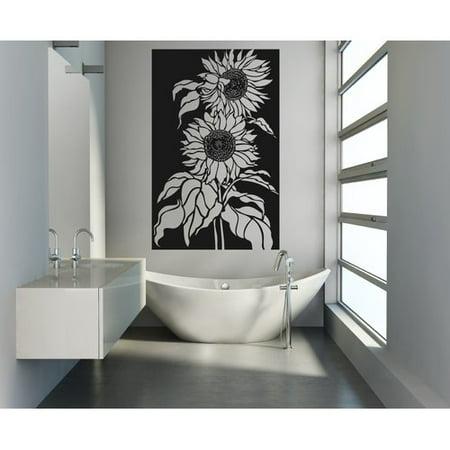 august grove gadbois sunflowers vinyl wall decal. Black Bedroom Furniture Sets. Home Design Ideas