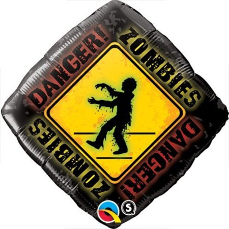 Zombie Birthday Party Supplies (Qualatex Foil Balloon 050948 Zombies Crossing 18