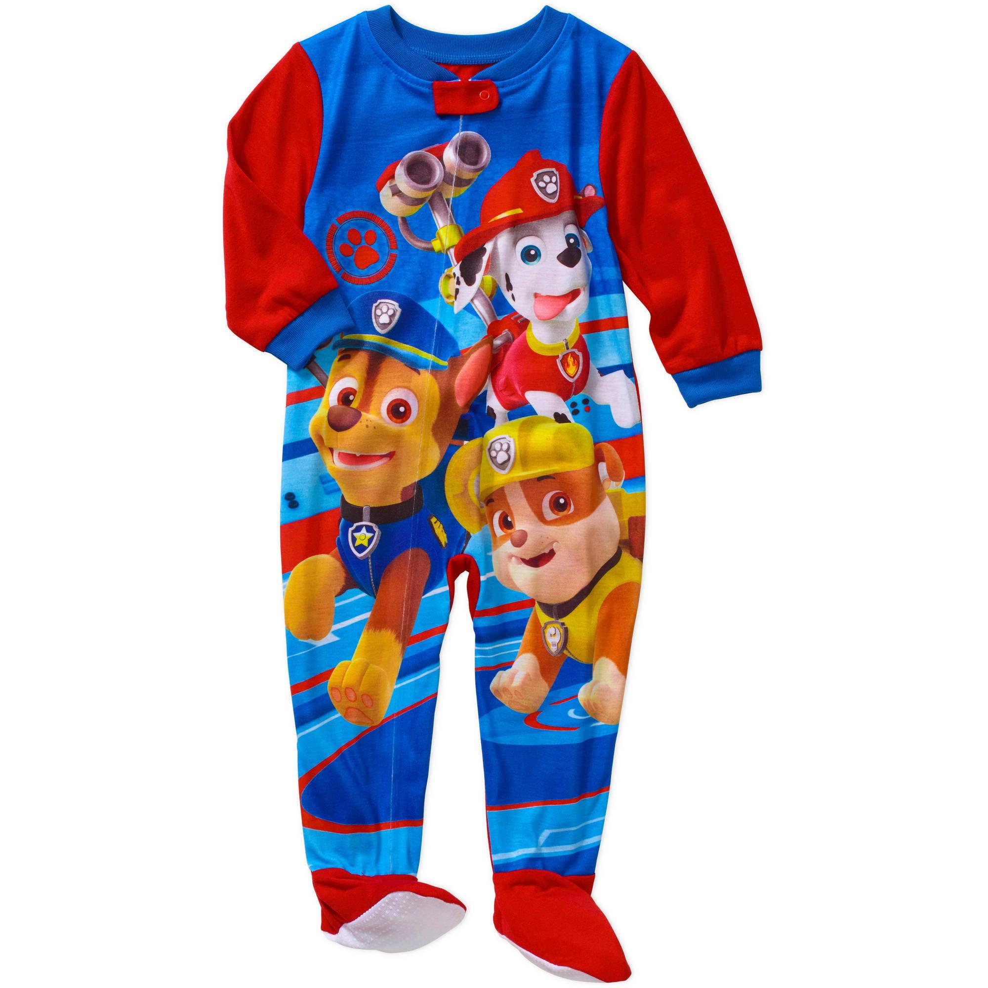 Nickelodeon Paw Patrol Baby Toddler Boy Footed Pajamas ...