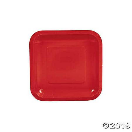 Red Square Paper Dessert Plates](Square Dessert Plates)