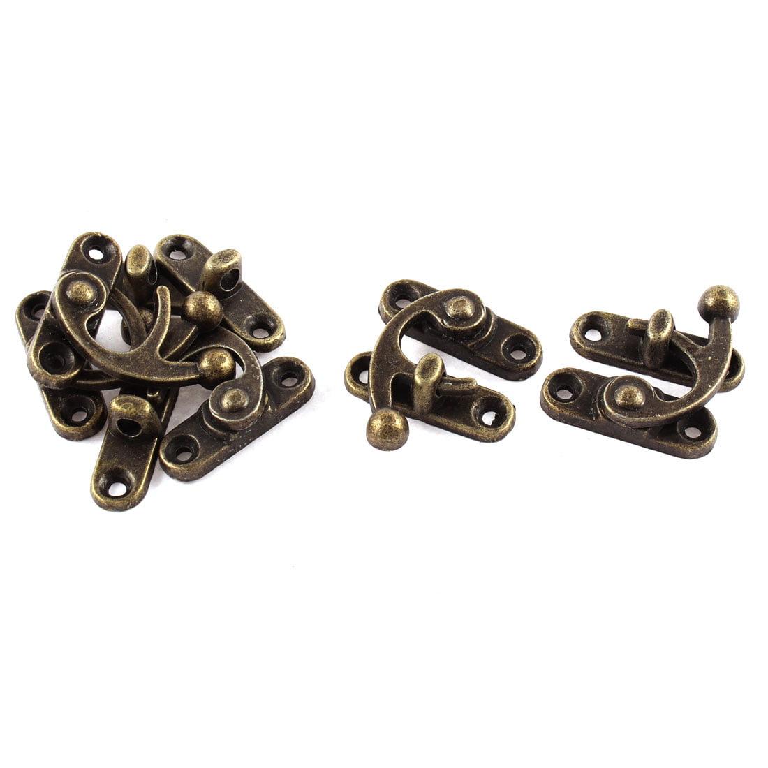 5pcs 33mmx29mm Antique Style Jewelry Cigar Box Hasp Hook Lock Latch