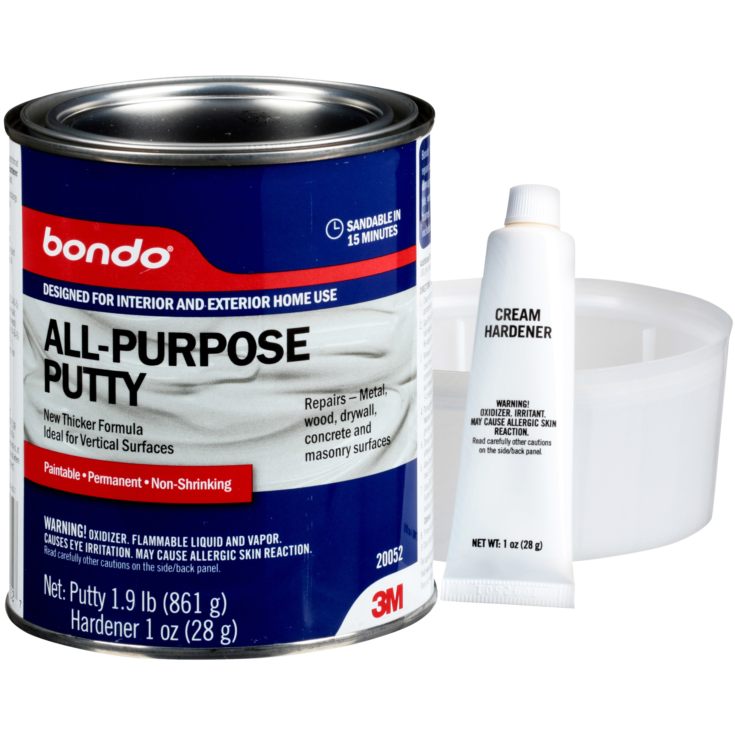 Bondo® All-Purpose Putty & Cream Hardener Variety Pack 2 pc Pack