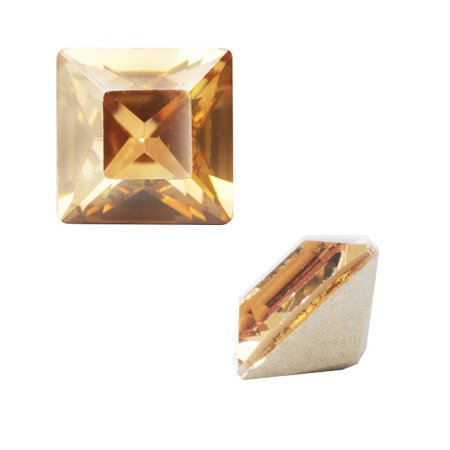 Swarovski Crystal, #4428 Square Fancy Stone 3mm, 10 Pieces, Crystal Golden Shadow ()