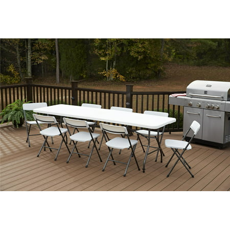 Cosco 8 Foot Centerfold Folding Table White Best