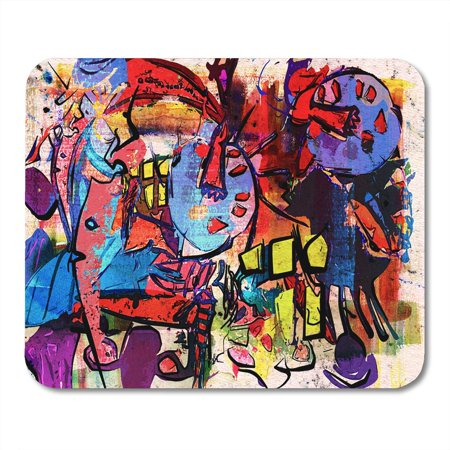 LADDKE Watercolor Color Abstract Painting Digital Collage Mixed Media Colorful Mousepad Mouse Pad Mouse Mat 9x10 inch