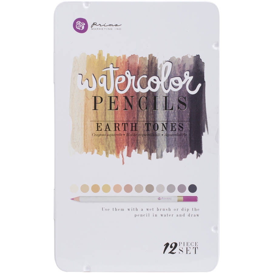 Prima Mixed Media Watercolor Pencils, 12-Pack