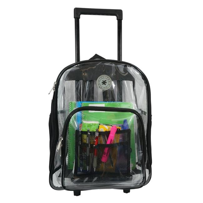 Harvest LM214 Black Wheeled Deluxe 17 inch See-through Clear 0. 5 mm.  PVC Backpack