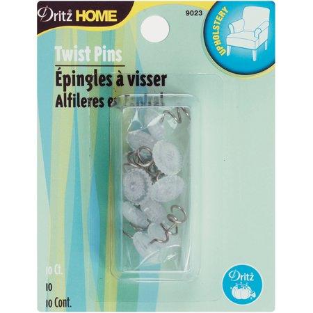 Dritz Home Twist Pins 10/Pkg-Clear