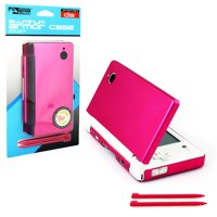 KMD Aluminum Armor Case & Dual Stylus Set for Nintendo DSi, Hot Pink