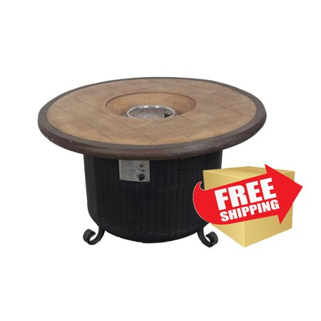 Patio Heater Round Faux Stone Fire Pit Fcphf Rnd