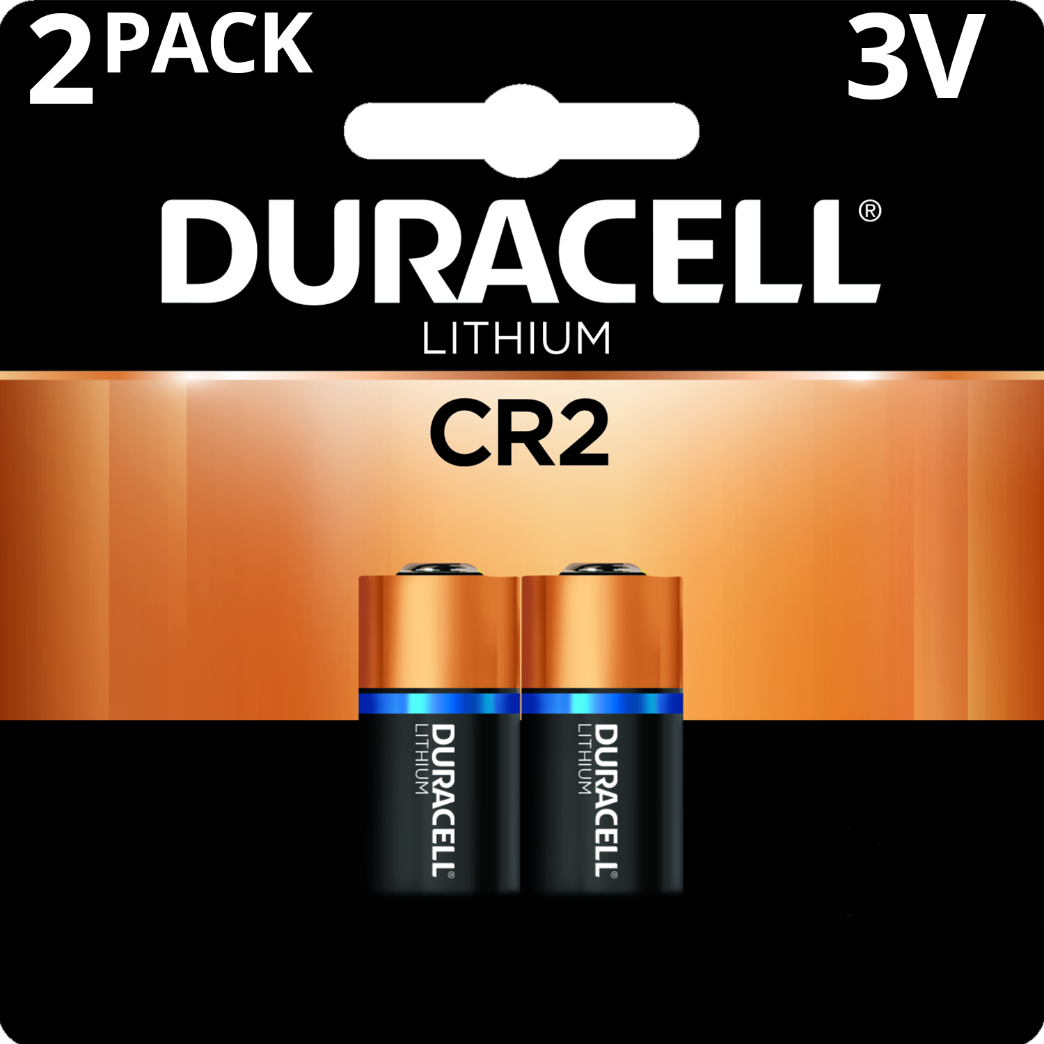 Duracell 3V High Performance Lithium Battery CR2 2 Pack Long-Lasting