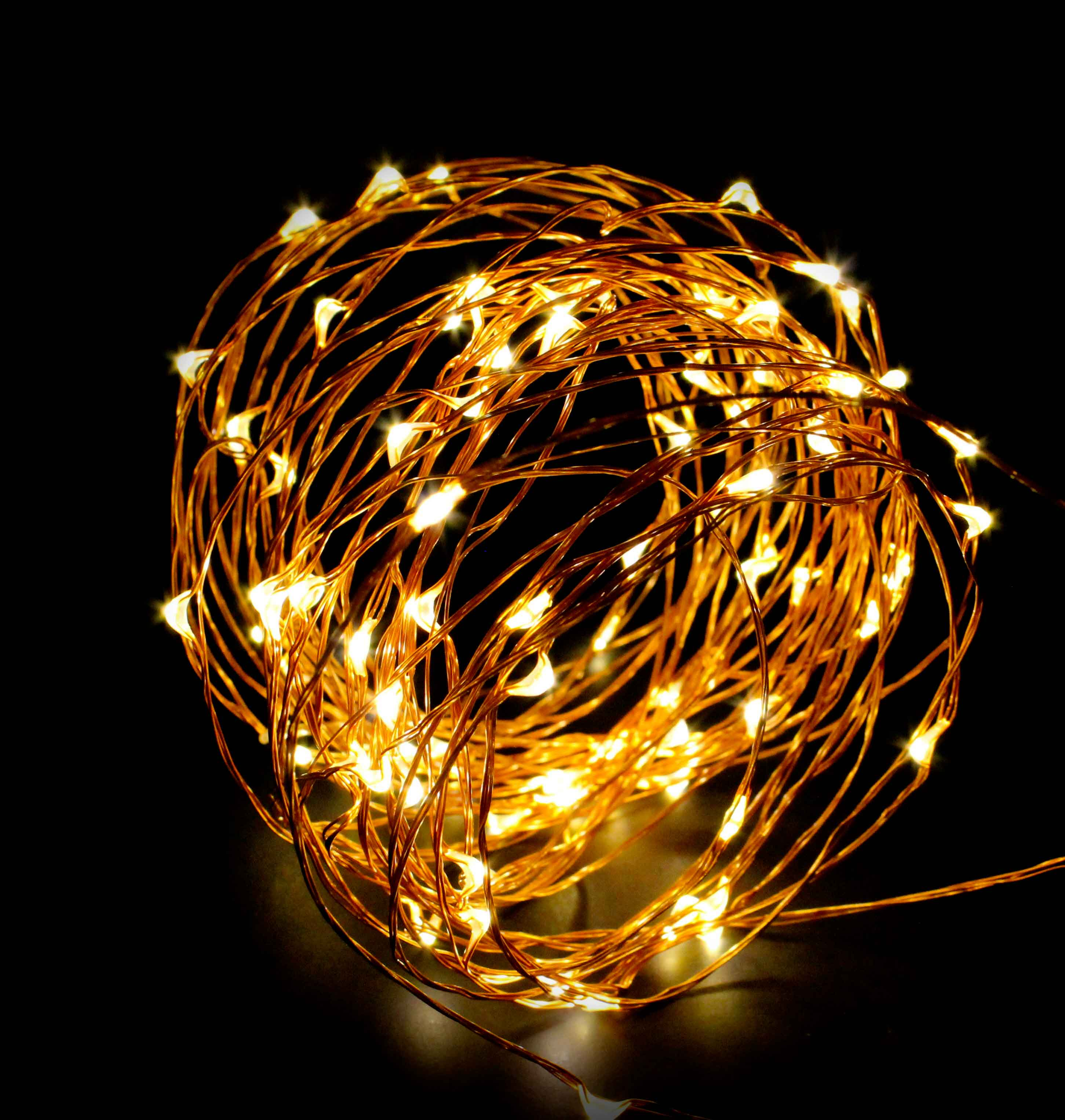 ABN Indoor String Fairy Rice Lights, Dimmable LED String Lights Decor 33 feet by Auto Body Now