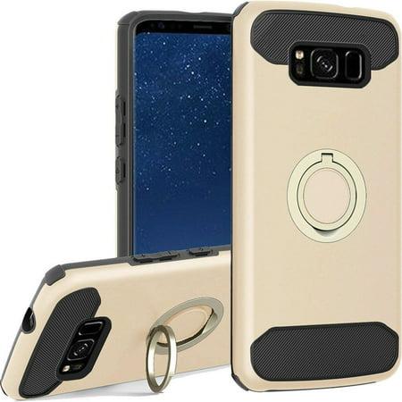 sale retailer 47eab b50aa Samsung Galaxy S8 Case, by Insten Dual Layer [Shock Absorbing ...
