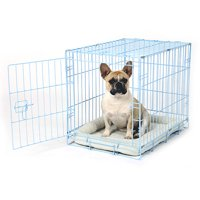 "Carlson Compact Deluxe Metal Dog Crate with Pan, X-Small, 24""L"