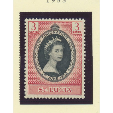 British Postage Stamps - St. Lucia Scott #156 - Queen Elizabeth II Coronation, British Commonwealth Common Design Issue From 1953 - Collectible Postage Stamps
