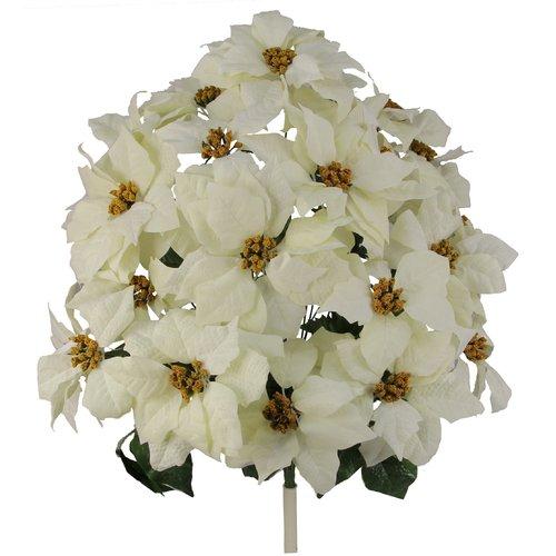 Charlton Home Poinsettia Floral Arrangement