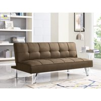 Serta Chelsea 3-Seat Multi-function Upholstery Fabric Futon Couch/Sofa Bed, Java