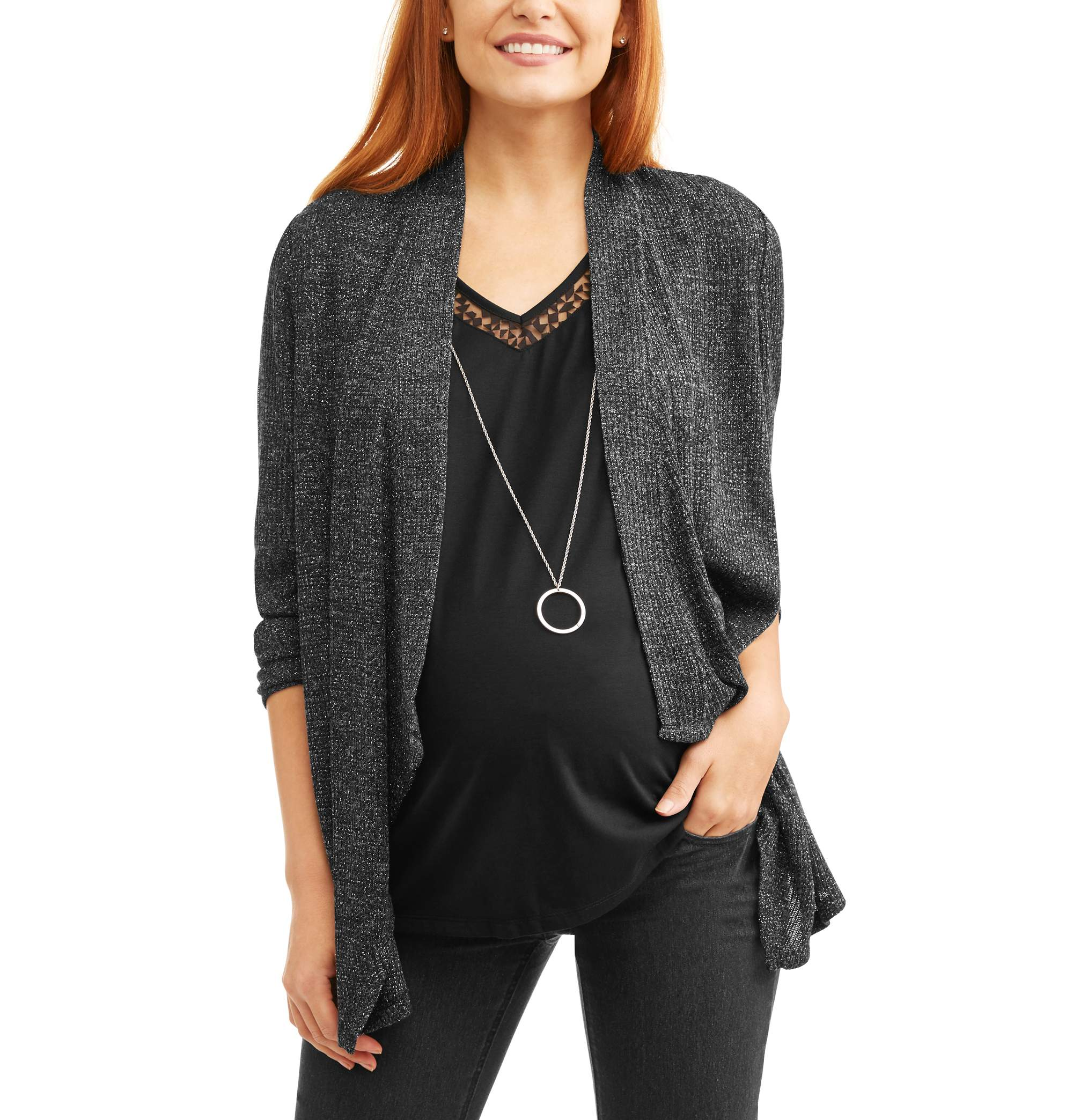 Faded Glory Maternity Rib 2fer Flyaway