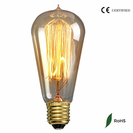 110V 40W LED Edison Light Bulb Warm White Filament ST58 Vintage Pendant Light 180LM 2200K ()