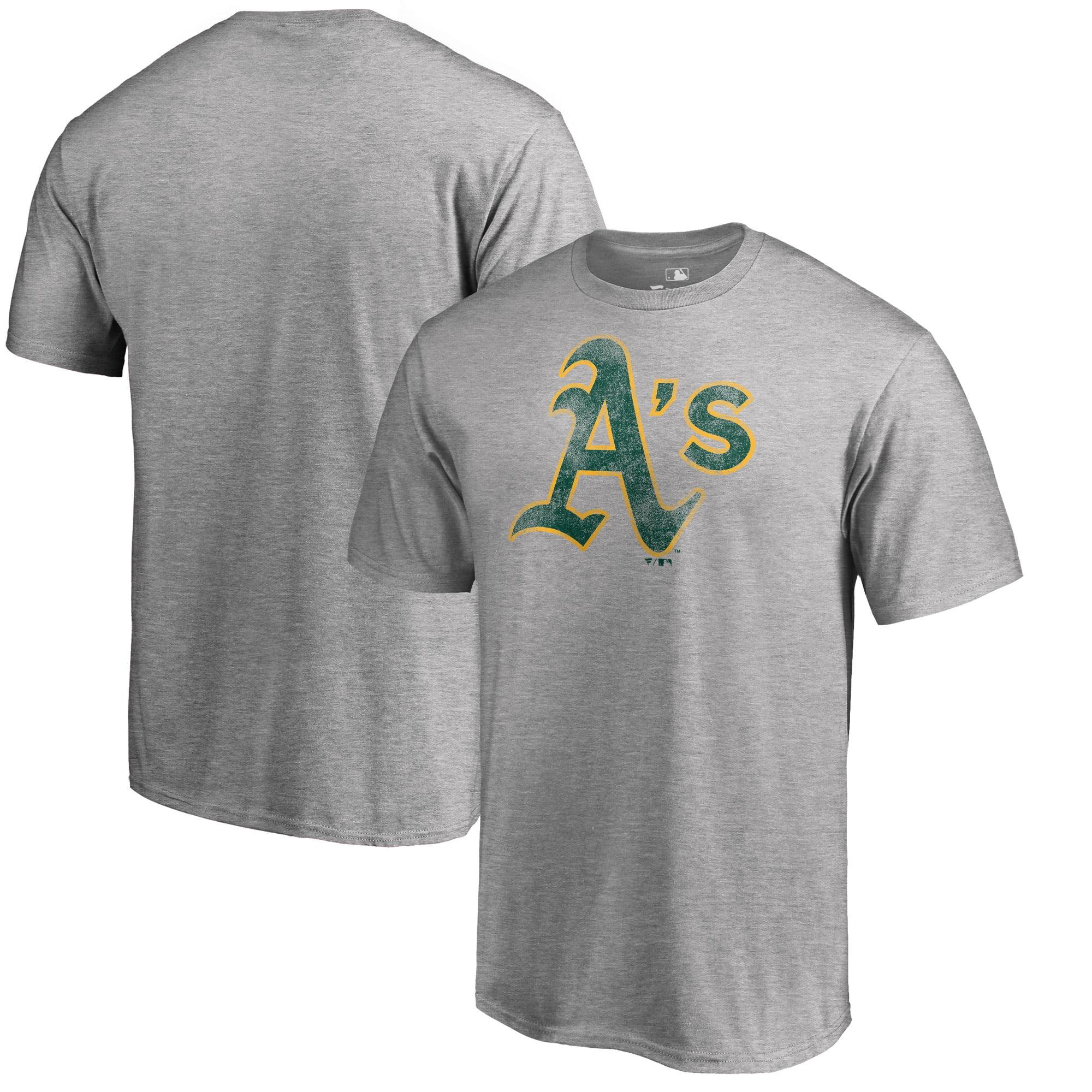 Oakland Athletics Fanatics Branded Big & Tall Distressed Team T-Shirt - Heathered Gray