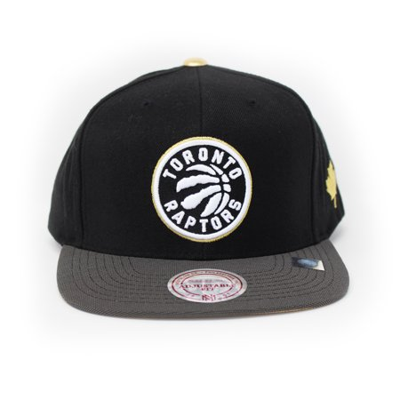 Mitchell and Ness Toronto Raptors Gold Tip Gold/Black Snapback Hat - image 4 of 4