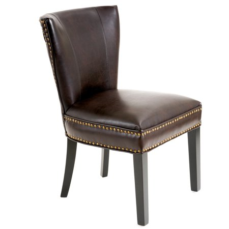 Samantha Brown Bonded Leather Accent Dining Chair