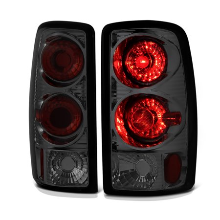 VIPMotoZ 2000-2006 Chevrolet Tahoe Suburban 1500 2500 GMC Yukon XL Smoke Lens Tail Lights, Driver & Passenger (Chevrolet Suburban 2500 Parking Light)