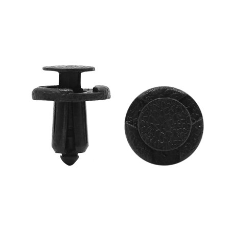Plastic Exterior Trim - 20 Pcs 8mm Hole Black Plastic Push in Rivets Exterior Trim Panel Door Clips