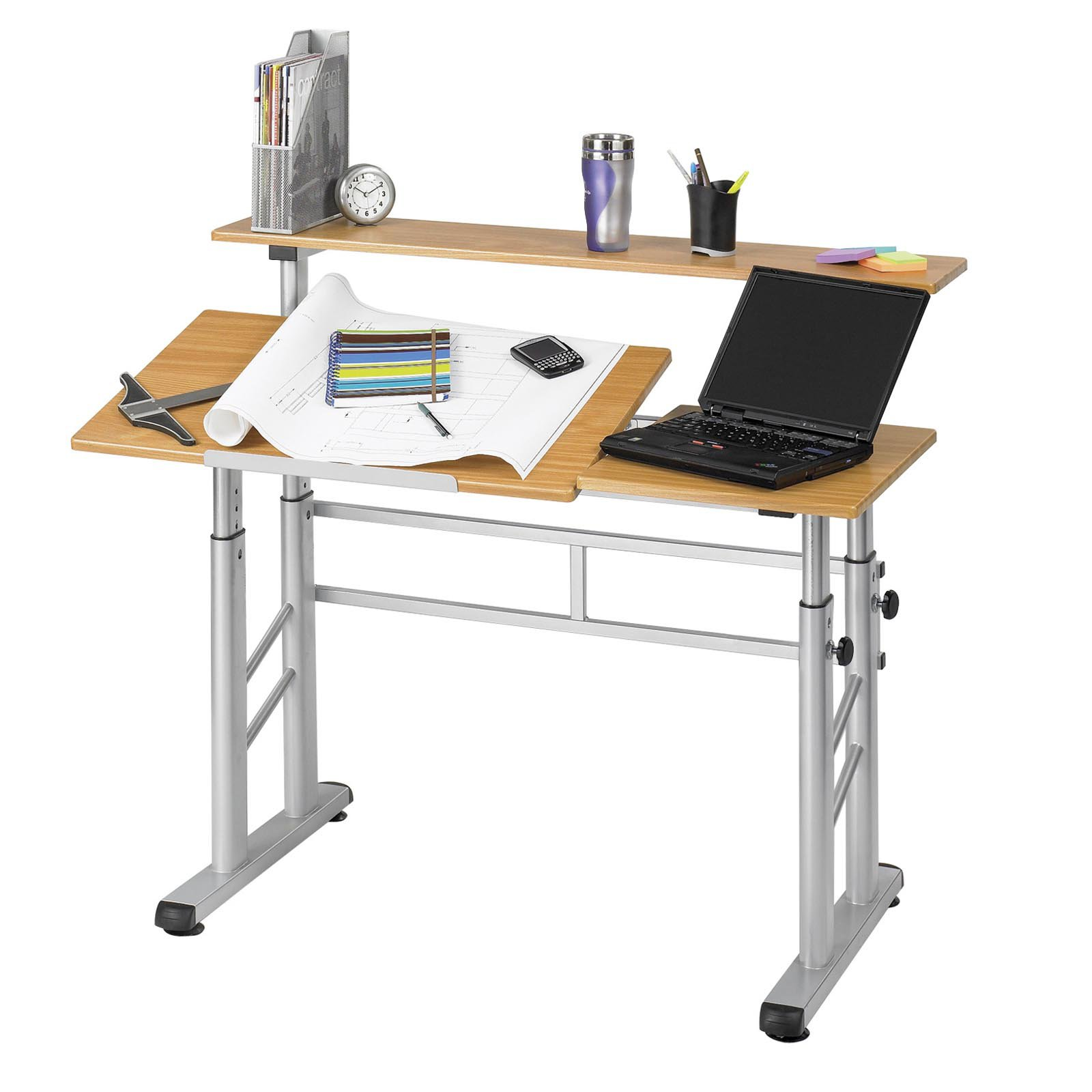 Safco Adjustable Split-Level Drafting Table - Walmart.com
