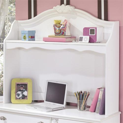 Signature Design by Ashley Furniture Exquisite Bedroom Desk Hutch in White