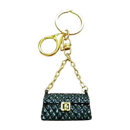 Am Landen Rhinestone Handbag Style Key Chain Bling Rings Handbags Charms Gift