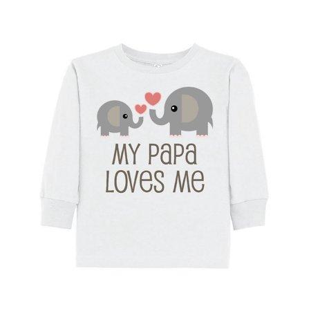 d43fba5b Inktastic - My Papa Loves Me Grandchild Toddler Long Sleeve T-Shirt -  Walmart.com